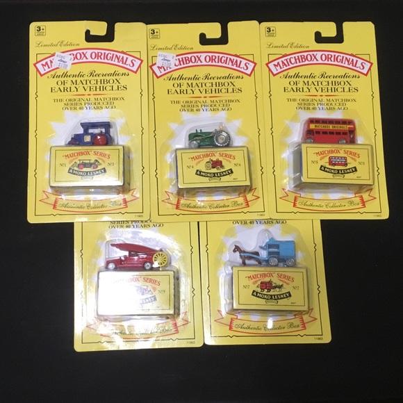 Other - Vintage Matchbox Originals set of 5